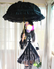 Lolita Princesa estilo debutante lace cosplay anime paraguas abovedado marca Vinilo UV soleado paraguas creativo paraguas mujer soltera