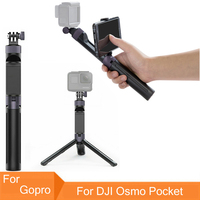 Mini Portable Tripods Handgrip Extension Pole Monopod Tripod Selfie Stick for Gopro Hero 6 5 For DJI Osmo Pocket Handheld Gimbal