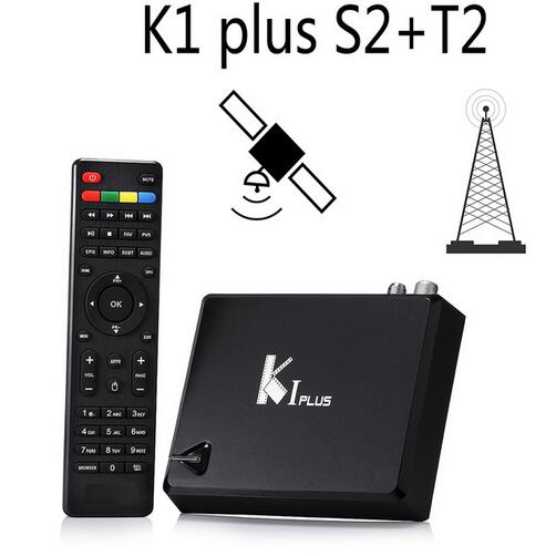KI Plus T2 S2 Smart Android 5.1 TV Box Amlogic S905 Quad Core 64-Bit 1/8GB Support DVB-T2 DVB-S2 Wifi K1 Plus TV Box Set Top Box mx plus amlogic s905 smart tv box 4k android 5 1 1 quad core 1g 8g wifi dlna потокового tv box