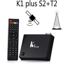KI Plus T2 S2 Smart Android 5.1 TV Box Amlogic S905 Quad Core 64-Bit 1/8GB Support DVB-T2 DVB-S2 Wifi K1 Plus TV Box Set Top Box