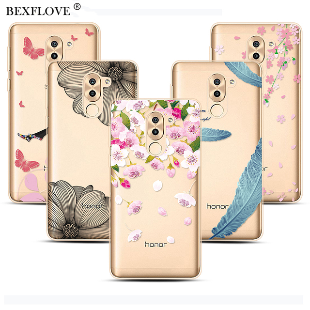 more photos 668fd 7d7bb Phone Cases For Huawei Honor 6X Case For Honor 7A Pro Case Flower ...