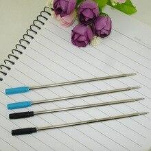 100 unids/lote bolígrafo de Metal delgado recarga tamaño estándar escritura tamaño plomo 1,0mm Oficina papelería accesorios útiles escolares