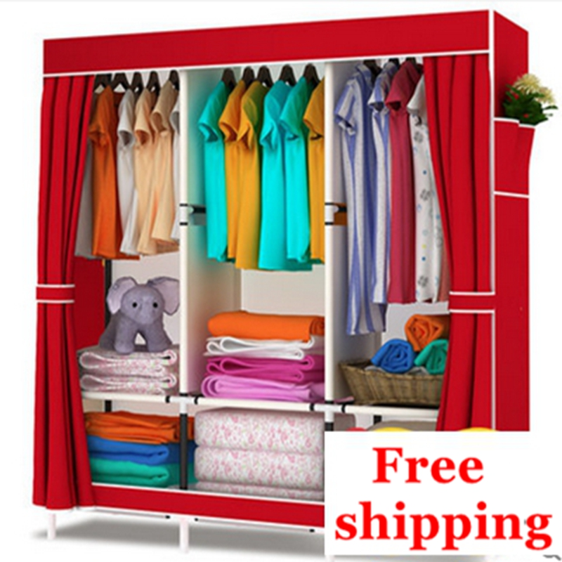 Merveilleux Free Shipping! Simple IKEA Cloth Wardrobe Folding Wardrobe Assembled  Portable Wardrobe Storage Cabinet Wardrobe In Wardrobes From Furniture On  ...