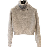 2017 Fashion Cardigan Women Turtleneck Knitted Cashmere Sweater Female Short Pullovers Cashmere Long Sleeved Warm Sweater
