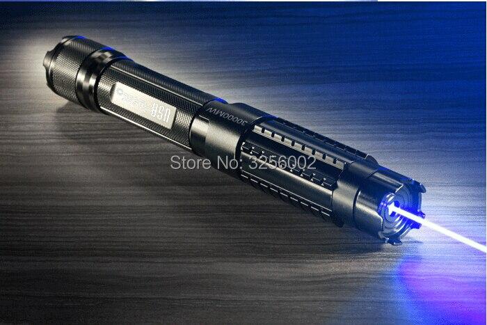 450nm de alta Potência Militar Mais Poderosa 500000 m 500 W Blue Laser Pointer Pen Foco Ajustável Queimando Papel intervalo para 10000 metros