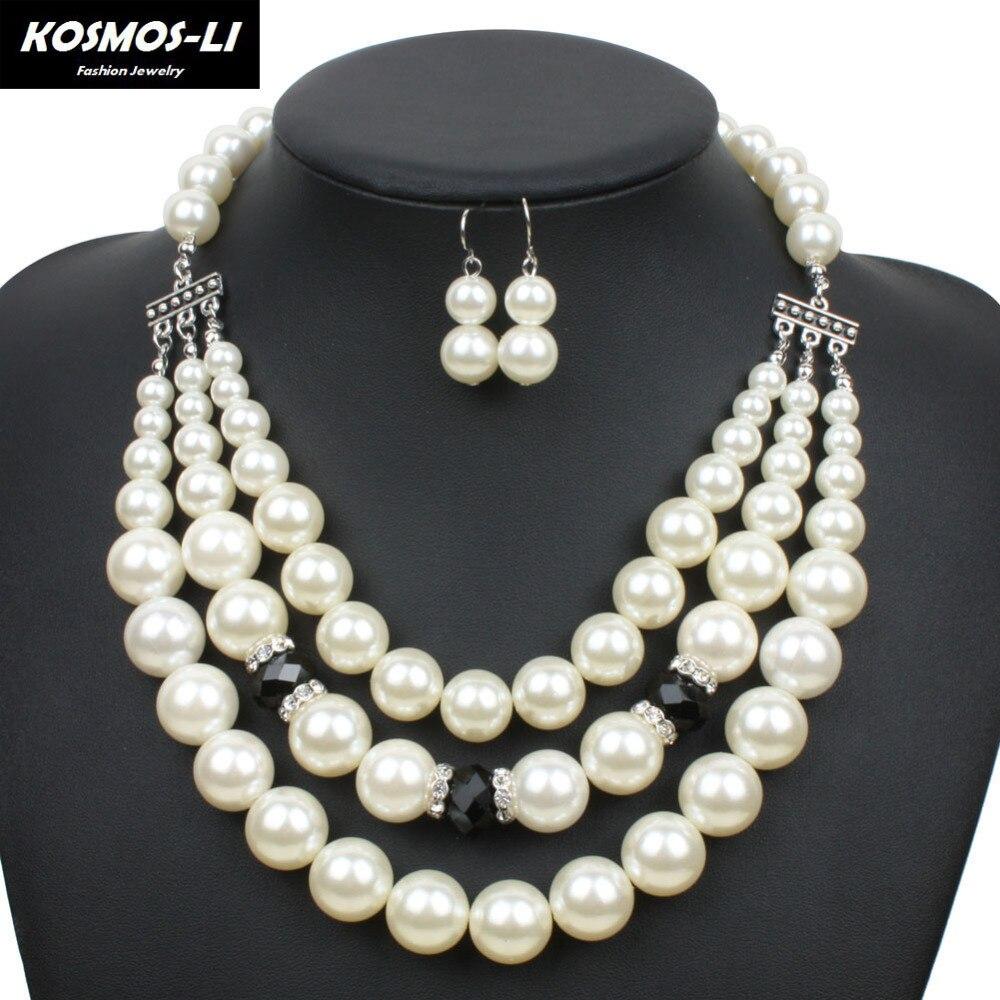 Women Fashion 3 Layer Choker Necklace Rhodium Plat