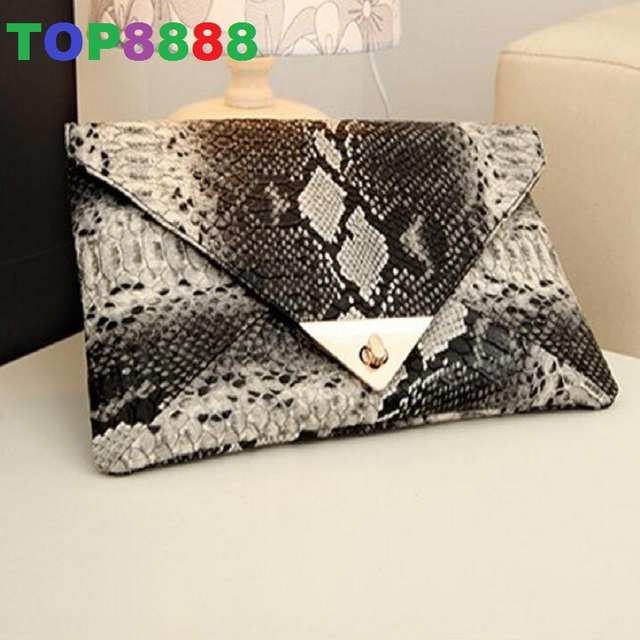 Dropshipping women's spring handbag day clutch serpentine pattern bag envelope one shoulder cross-body bag trend women's bags