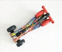 Детская Kick скутер для маленьких детей ПУ 4 колеса Fashing открытый детский скейтборд с цветом спрей и музыка для ребенка