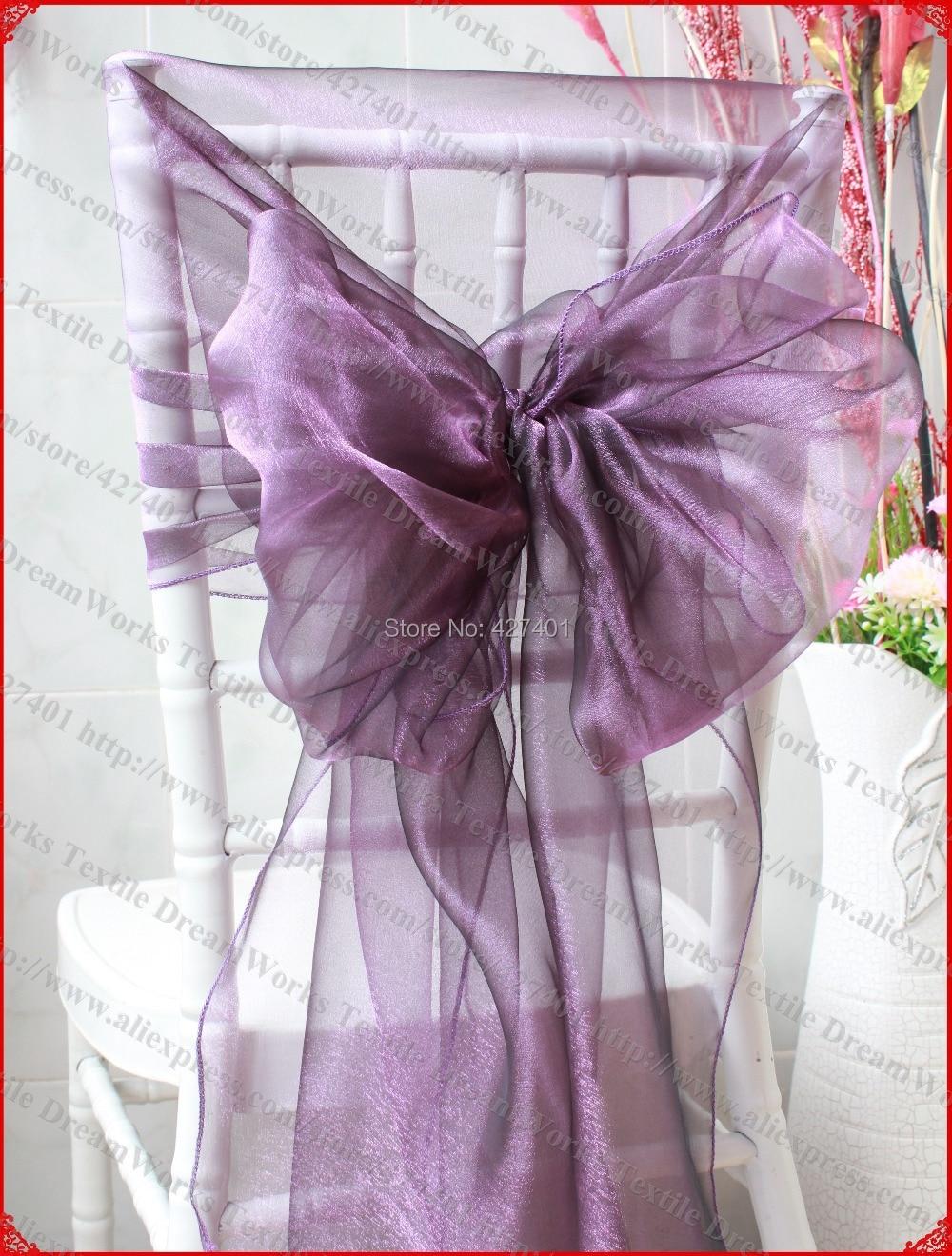 N ° 12 ciruela Organza silla campanas/silla tapas/cubierta de la silla de la faja de boda y fiesta y a casa y decoración textil para banquete Moderno de algodón de mantel de lino impermeable cuadrado fiesta banquete mantel para exteriores de Color sólido mantel NAPE de superposición