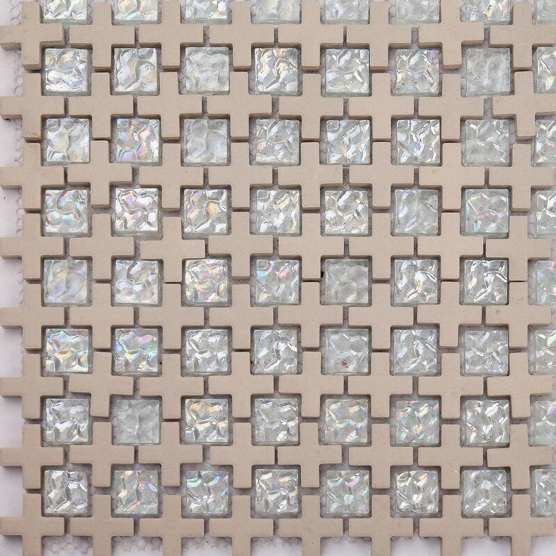 8mm glasierte farbe platz mischung kreuz mosaik fliesen fr luxus wand dekoration bodenfliesechina - Mosaik Flie