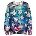 Alisister 2017 new fashion men/women's cat sweatshirts printed galaxy hoodie pullovers Casual Harajuku sweatshirt 3d animal tops