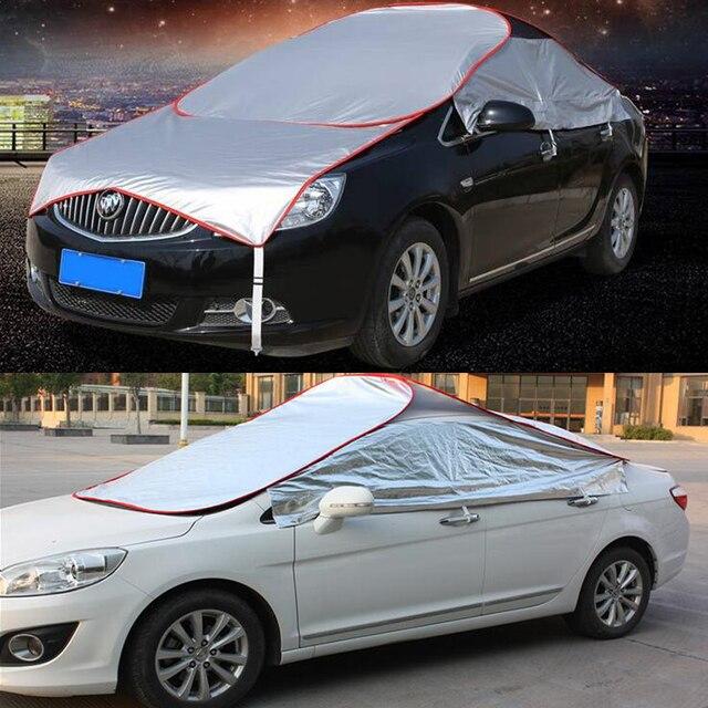 Us 50 77 7 Off Aliexpress Com Buy Summer Car Top Folding Sun Umbrella Sunshade Insulation Aluminum Film Portable Breathable Uv Protection