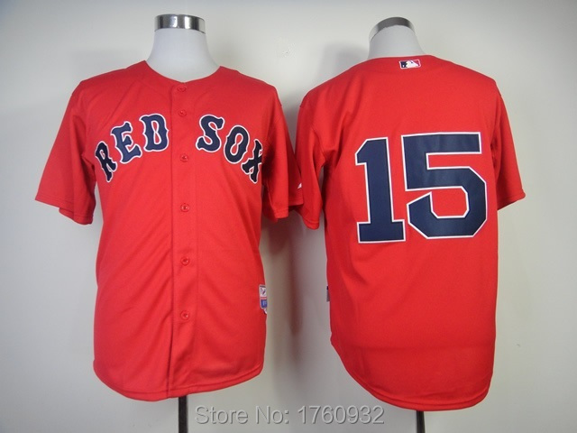brand new 26853 08b0b 2015 USA Baseball Jersey Boston Red Sox Jersey 15 Authentic ...
