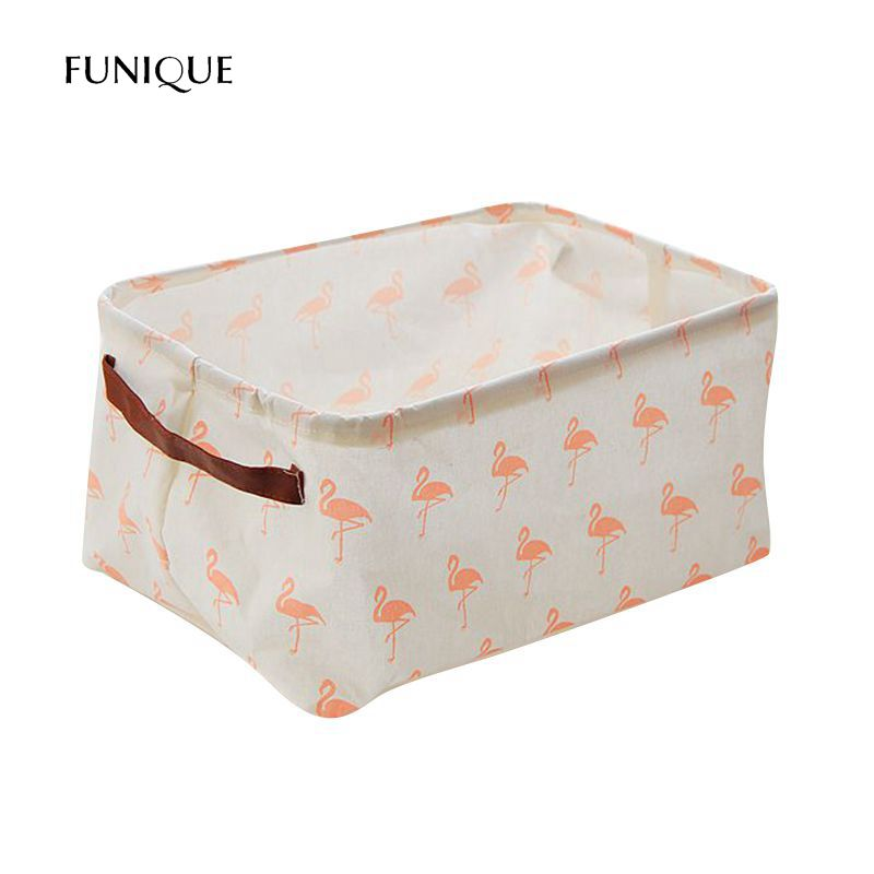 FUNIQUE Flamingo Waterproof Clothing Toys Finishing Box Folding Laundry Dirty Clothes Storage Bags Home Decoration Storage Box
