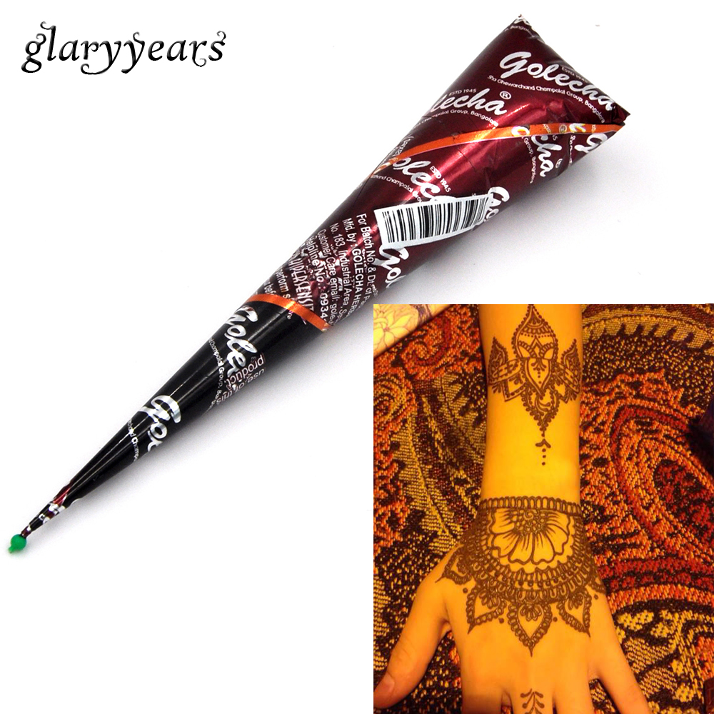 Henna Tattoo Colors: 1 Piece Brown Color Henna Mehandi Cone 2017 Hot Hand Body