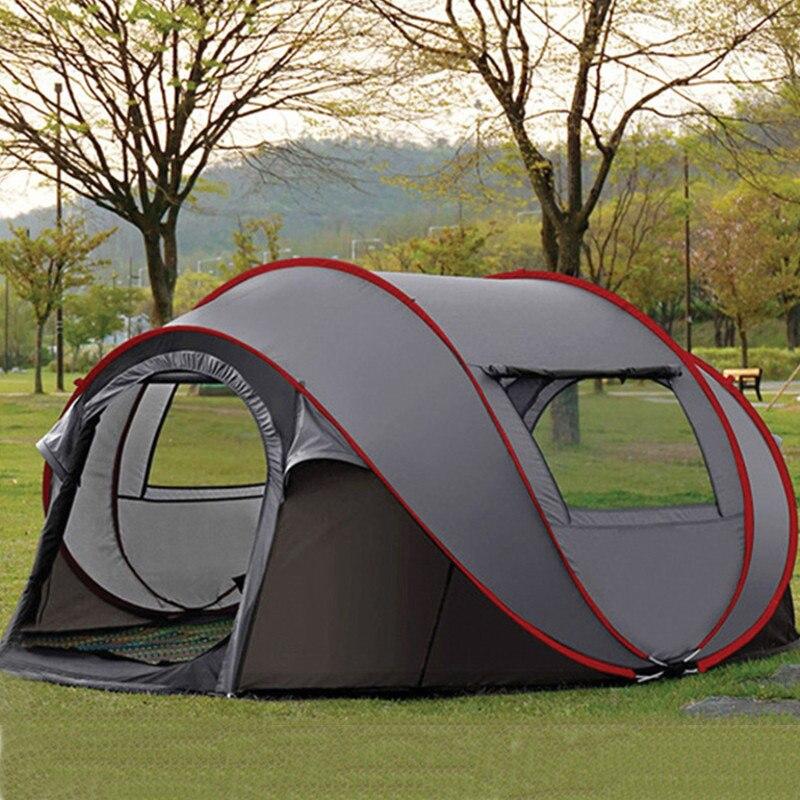 Professionnel jeter tente extérieure automatique tentes jeter Pop Up Camping imperméable randonnée tente étanche grande famille tentes