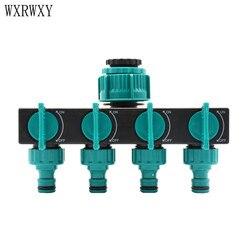 wxrwxy Garden tap 4 way tap cranes irrigation water splitter Female 3/4 1/2 1 irrigation valve 1/4