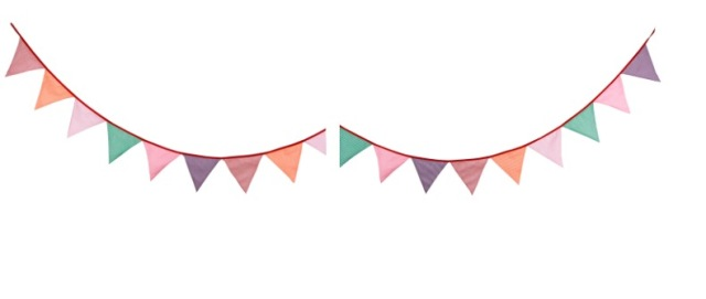 Greatest 2 Set 3.3M 12pc Fresh Stripe Bunting Banner Cotton Cloth Hanging  GL99