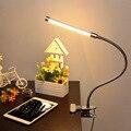 Светодиодные чтение защиты глаз настольная лампа с Зажимом два уровня яркости диммер настольная лампа, 1 шт./лот