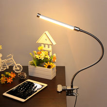 Led reading eye protection desk lamp with Clip two level brightness switch dimmer table lamp,1pcs/lot(China)