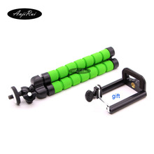 Mini Octopus Tripod Supports For Cell Phone Digital Camera Stand gopro accessories Tripod Mount + Phone Holder Wholesale
