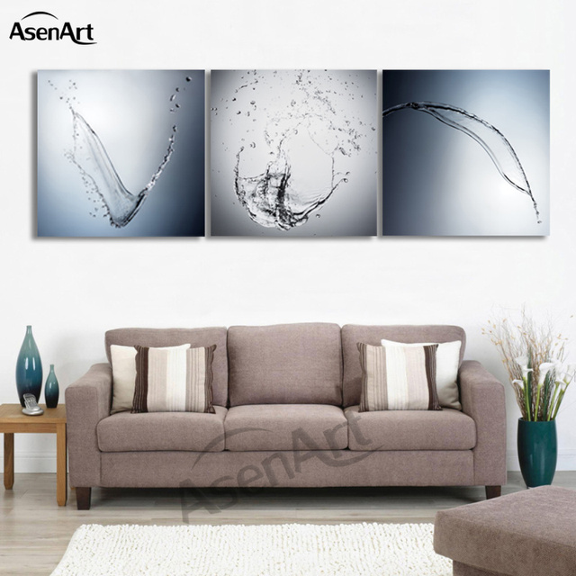 3 Piece Art Dancing Clear Water Painting For Dining Room Modern Home Decoration Wall Canvas Prints Picture No Frame