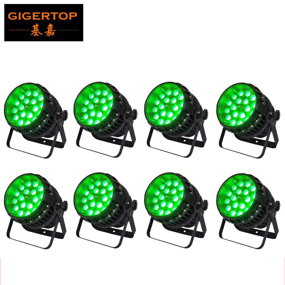 Discount Price 8 Pack 18x12W RGBW Professional Design LED Par Zoom Par Can Stage Light Silent Working Phrase Zoom Motor russian phrase book