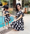 Family Set Fashion Tank Dresses Matching Clothes for Mother and Daughter Beach Dress Clothes Family Style Clothing Summer YEA1
