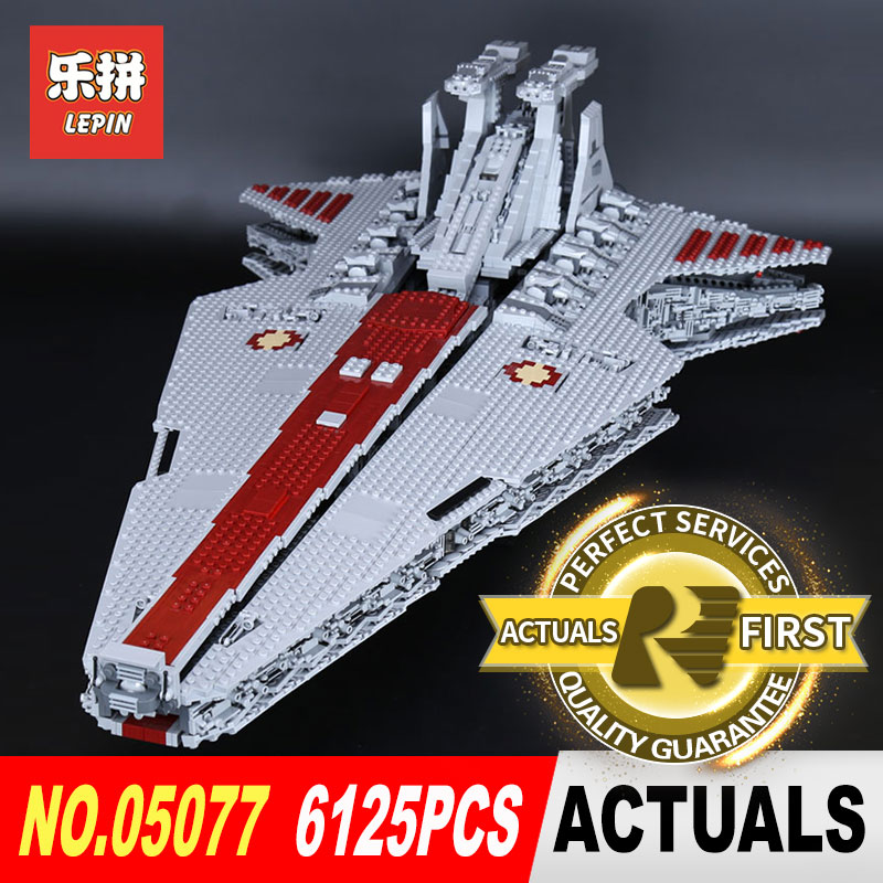 Lepin 05077 6125PCS Star Classic Wars The Ucs ST04 Set Republic Cruiser Educational Building Blocks Bricks Toys legoed Gift lepin 05077 stars series war the ucs rupblic set star destroyer model cruiser st04 diy building kits blocks bricks children toys