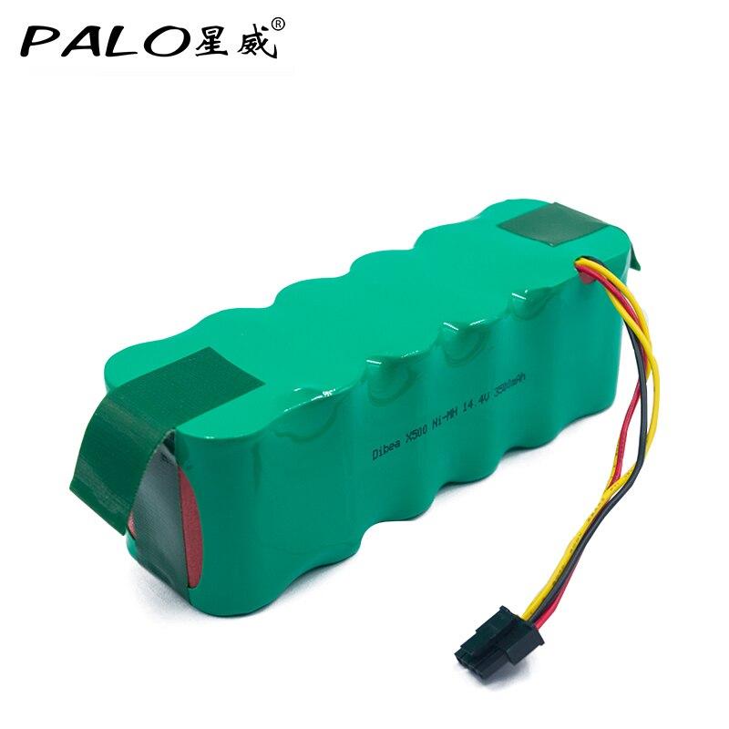 14.4 v Ni-MH 3500 mah Batterie Haute Capacité Aspirateur Robot Rechargeable Batterie Pack pour Dibea X500/X580 KK8 CR120