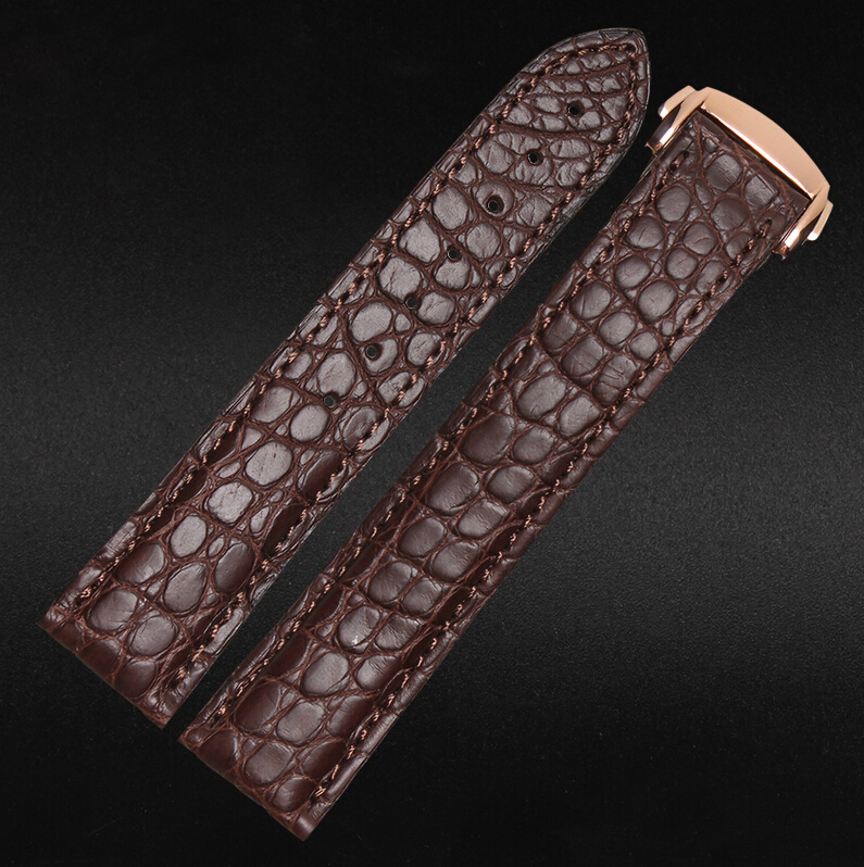 20mm NEW Men High quality Real Alligator Genuine Leather Watch Band Strap Gold Deployment Buckle Clasp r80170 12v 1600 24v 1800 3500rpm high speed large torque electric tubular dc motor for pump industrial applications machine tool
