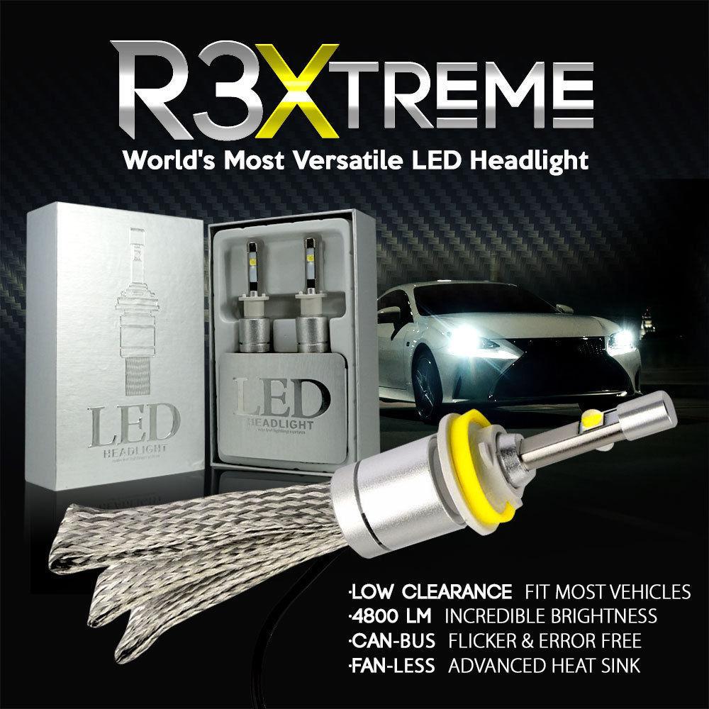 R3 8000K 6000K Car styling LED Headlight Bulb Cree XHP50 chip 9006 9012 H1 H4 H7