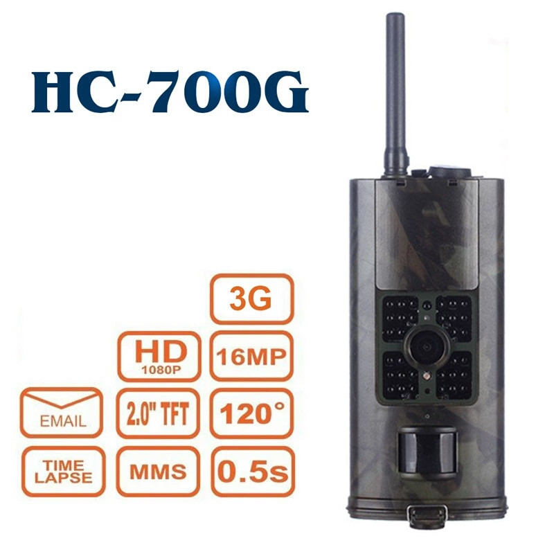 SMTP SMS Trail Hunting Camera <font><b>3G</b></font> MMS Cellular <font><b>HC700G</b></font> 16MP 940NM Infrared Night Vision Wireless Wildlife Photo Traps Surveillance image