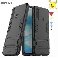For Case Vivo Z5x Hard Armor Rubber Phone Holder Anti-knock Cover Z1 Pro 6.53 inch BSNOVT