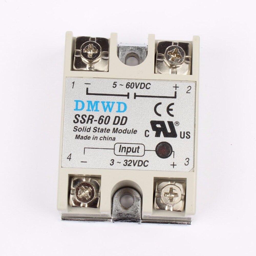 TOP BRAND DMWD solid state relay SSR-60DD SSR-75DD SSR-80DD  actually 3-32V DC TO 5-60 DC SSR relay solid state normally open single phase solid state relay ssr mgr 1 d48120 120a control dc ac 24 480v