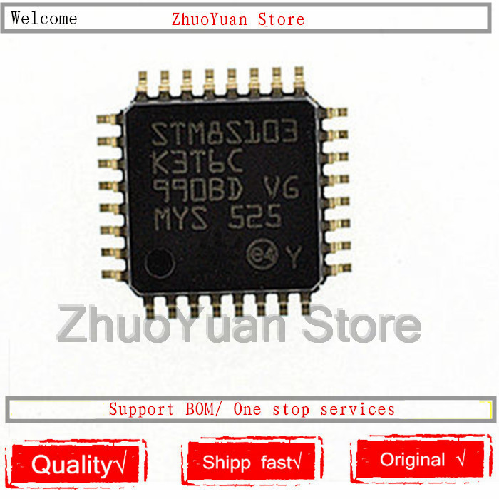 1PCS/lot New Original STM8S103K3T6C STM8S103 LQFP-32 IC Chip