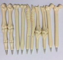 50 개/몫 주사기 펜 쓰기 용품 뼈 모양 볼펜 도매 새로운 크리 에이 티브 선물 학교 공급
