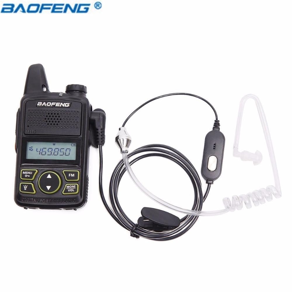 Baofeng Air Acoustique Tube1 Broches PPT Écouteur pour Radio Talkie Walkie Casque Mic Microphone pour Baofeng Accessoires BF-T1