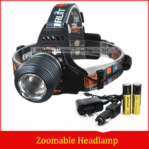 Rechargeable 2000LM XM L T6 LED Zoomable Headlamp Headlight 18650 Bike Bicycle Flashlight Head Light Outdoor