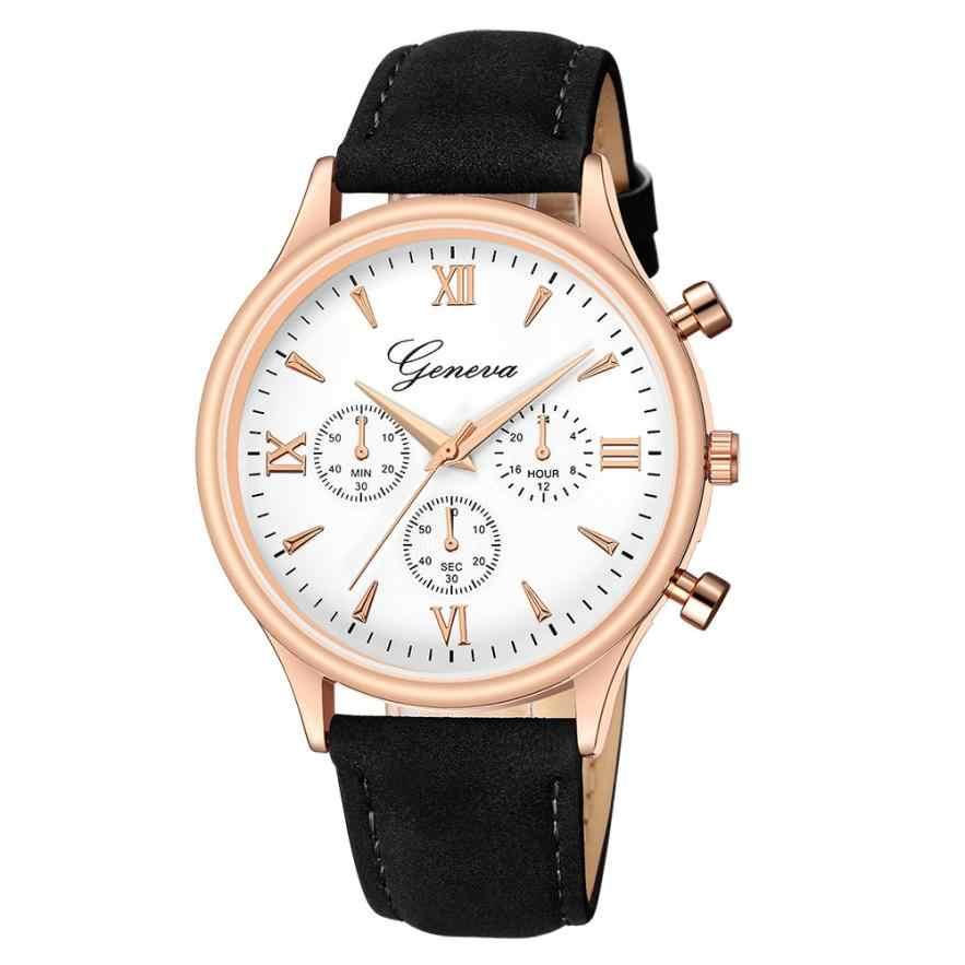 นวนิยายใหม่แฟชั่นFauxหนังผู้ชายแก้วควอตซ์นาฬิกาสบายๆนาฬิกาแบรนด์ชายนาฬิกาDropship