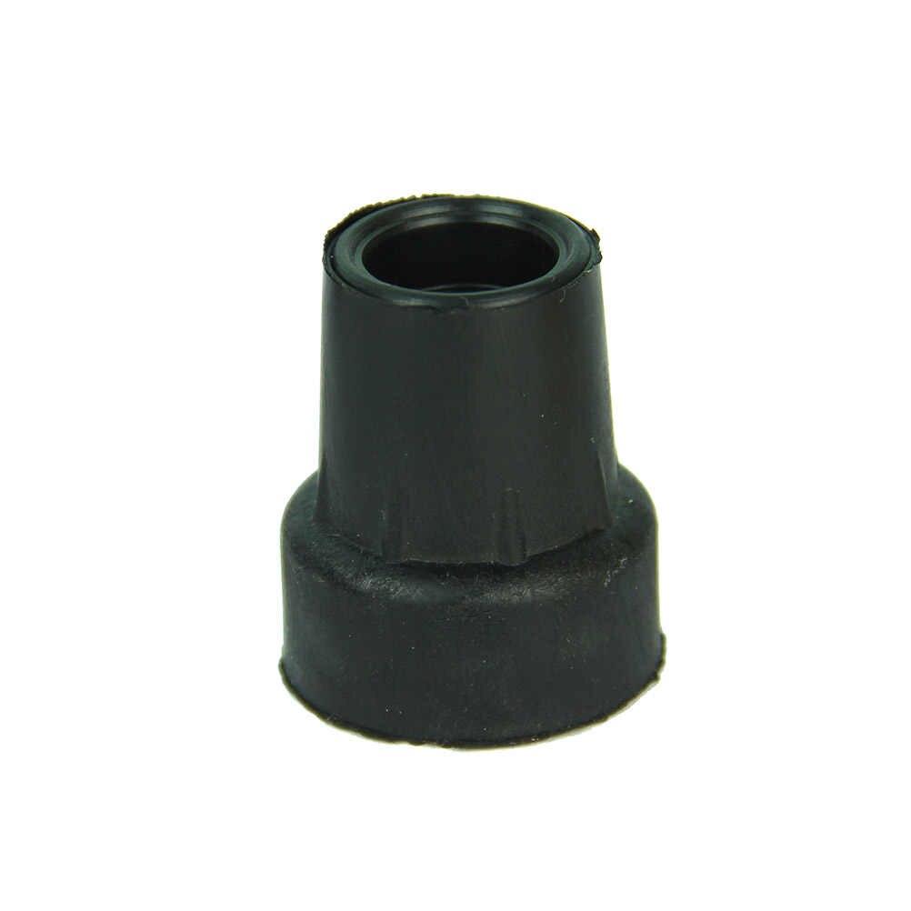1 Pz Fondo 19mm Gomma Morbida Gomma Pastiglie Bastoni Da Trekking End Tips Copertura Stampella Pad In Gomma Heavy Duty In Metallo ghiera