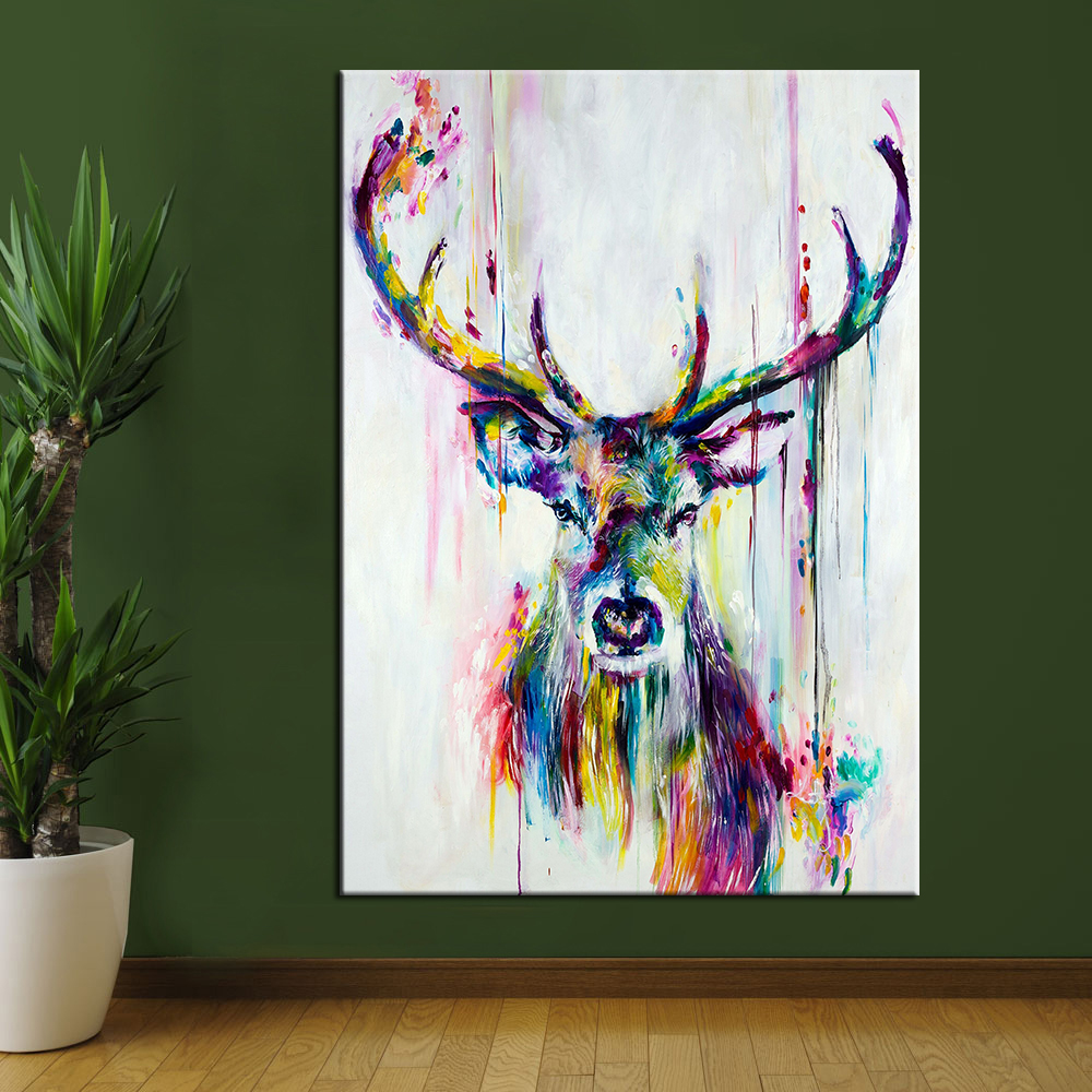 Buy chenfart wall art canvas painting - Home interior deer pictures for sale ...