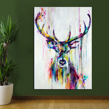CHENFART Wall Art Canvas Painting Animal Deer Pictures For Living Room Home Decor No Frame Posters and Prints Oil