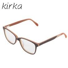 Kirka Óculos Óculos Mulheres Óculos Quadrados Quadro vidros do Olho Óptico  Óculos de Armação armacao parágrafos Oculos de Grau f. 8c77f65bad