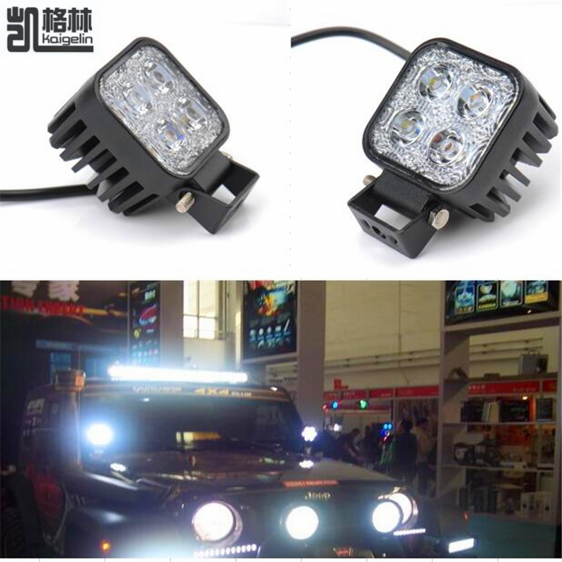 2PCS 12W Car LED Offroad Work Light Bar For Jeep 4x4 4WD AWD SUV ATV Golf