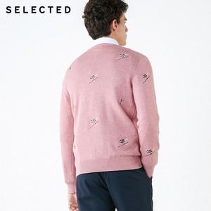 Image 4 - Select homme 100% coton broderie pull tricoté nouveau pull vêtements C