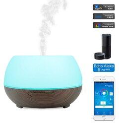 300ml Aroma dyfuzor olejków eterycznych ultradźwiękowy nawilżacz powietrza z 7 kolorów LED alexa Tmall genie Google Home voice control w Nawilżacze powietrza od AGD na