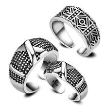 Vintage Ring 925 Sterling Silver Rings For Women Men Open Jewelry Anel Feminino Anillos Mujer Aneis Bague Femme Jewellery Anelli(China)