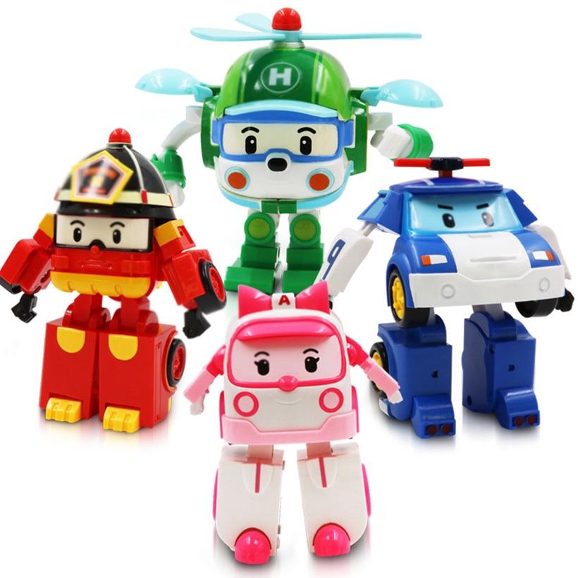 Kids Toy Vehicles Cartoon Children's Decoration Toys Cars Vehicle Hot Transformation Cars Wheel Kids Game Trucks 2018 Baby Gift