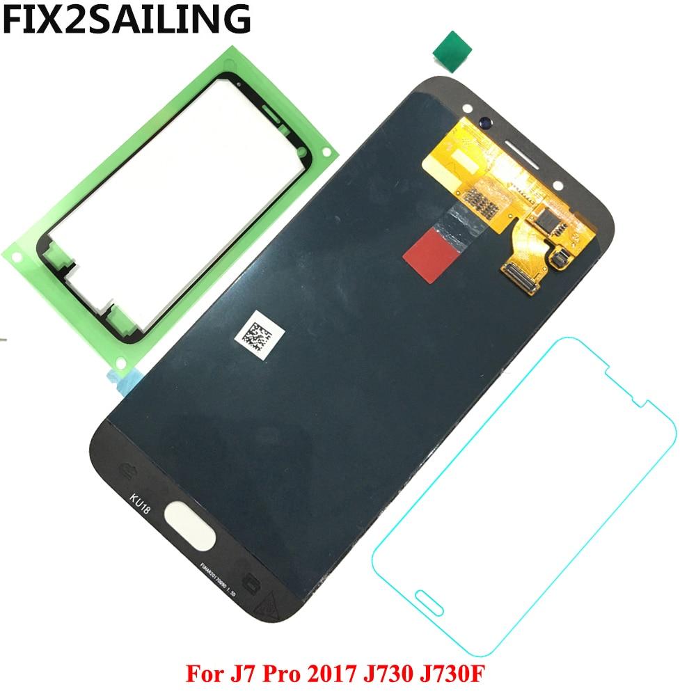 Pour Samsung Galaxy J7 Pro 2017 J730 J730F Super AMOLED écran LCD 100% testé assemblage d'écran tactile de travail